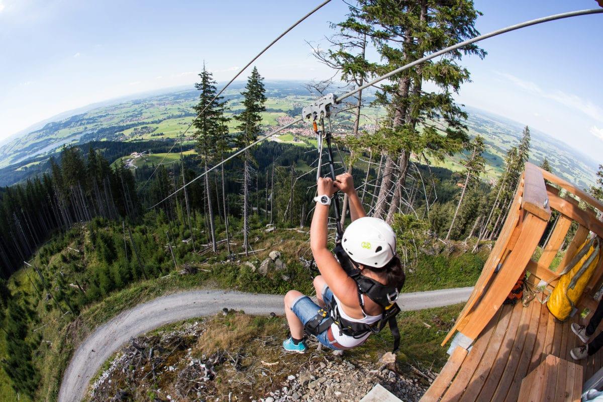 AlpspitzKICK Flug