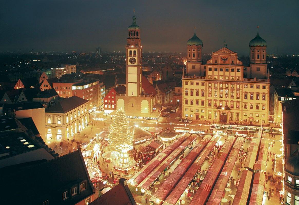 Christkindlesmarkt Luftaufnahme (Augsburg)