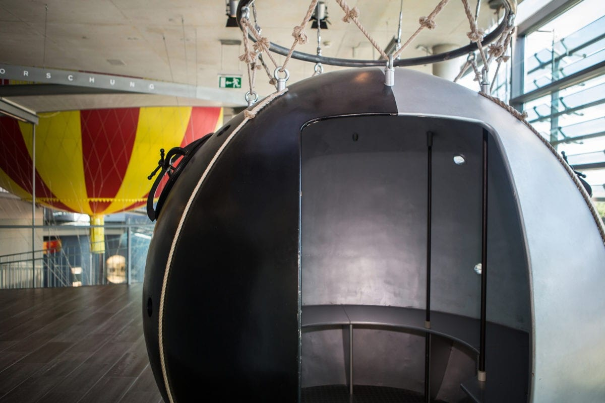 Historischer Ballon im Ballonmuseum Gersthofen