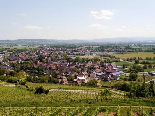 Blick auf Efringen-Kirchen