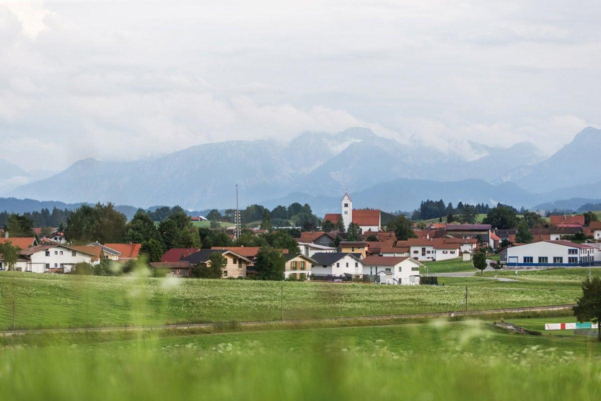 Blick auf Lengenwang