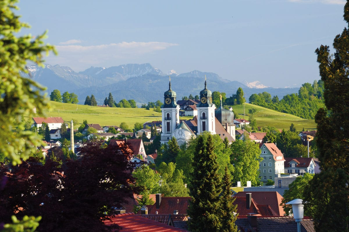 Blick auf Lindenberg im Allgäu