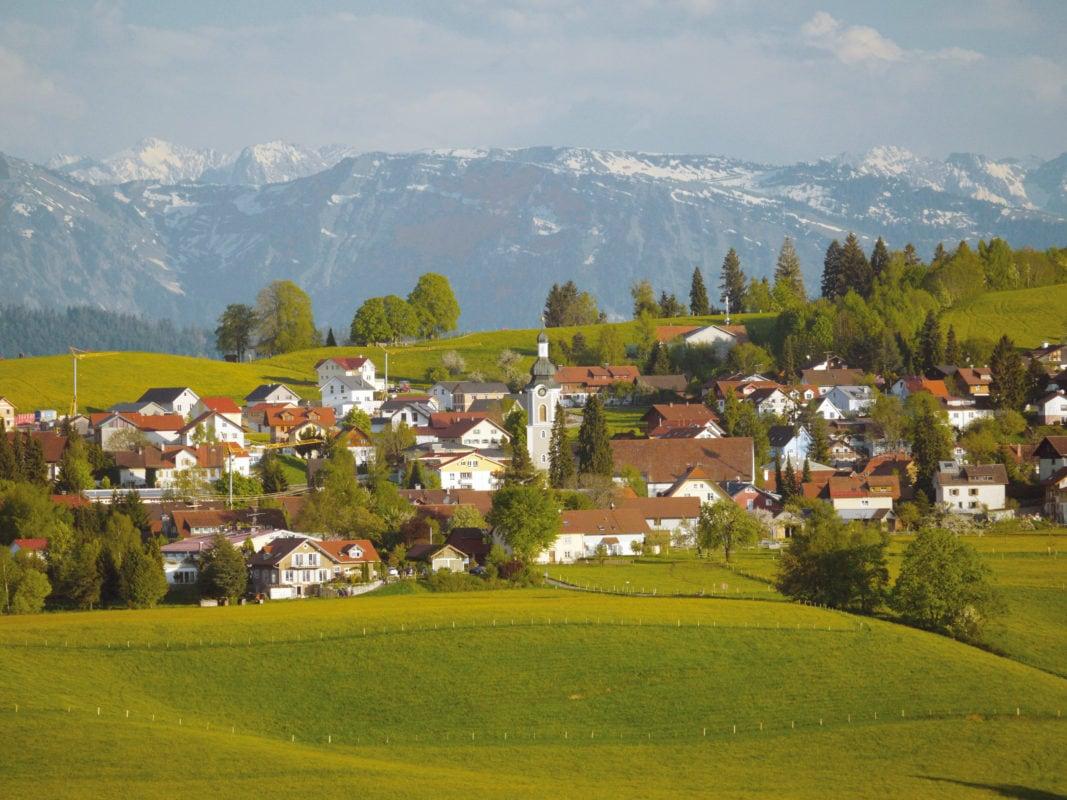 Blick auf Scheidegg