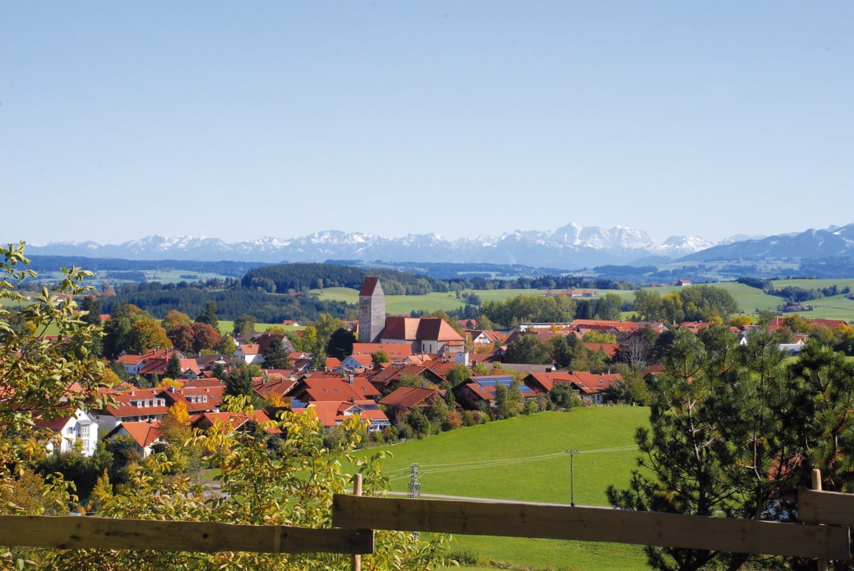 Blick auf Wiggensbach