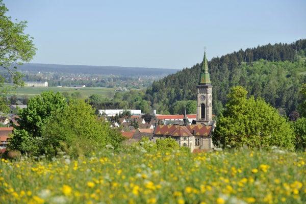 Bräunlingen Blick auf Kirche