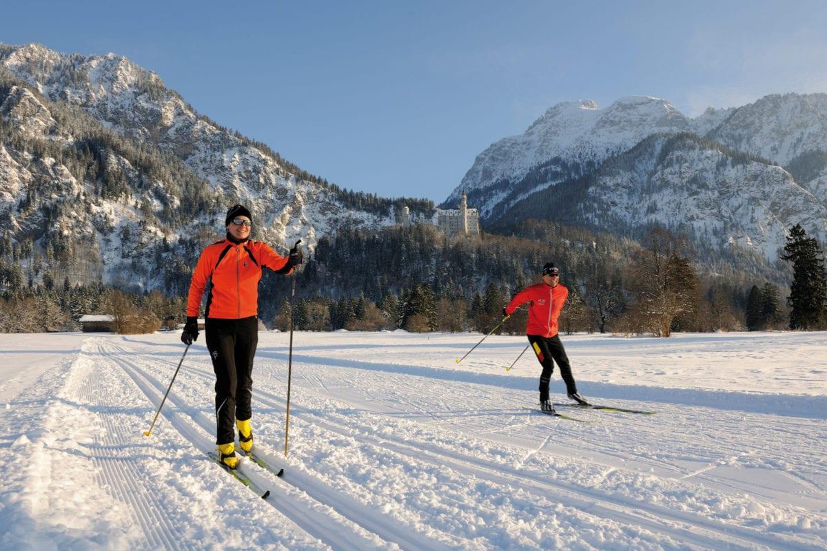 Füssen Skilangläufer Neuschwanstein