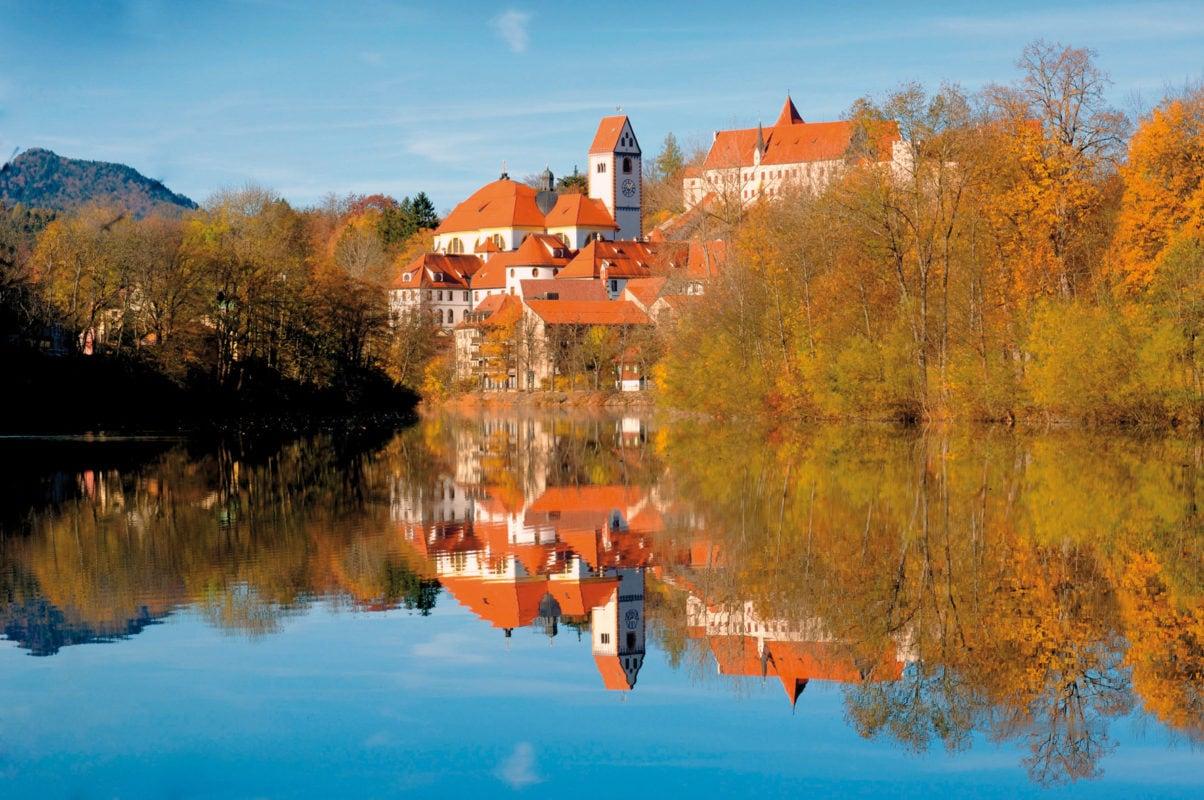 Füssen Stadtansicht Herbst
