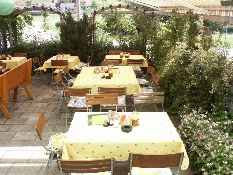 Gasthaus zum Kalten Tal Osterzell Terrasse