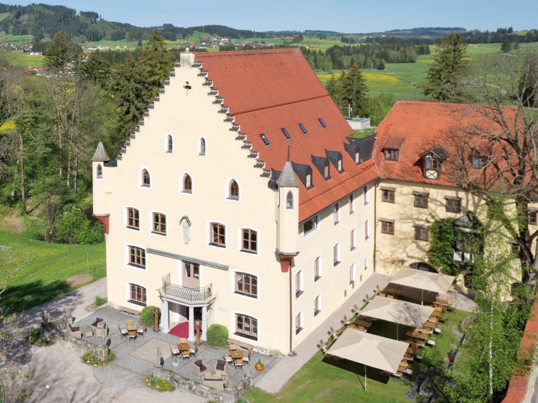 Hopferau Schloss Luftbild