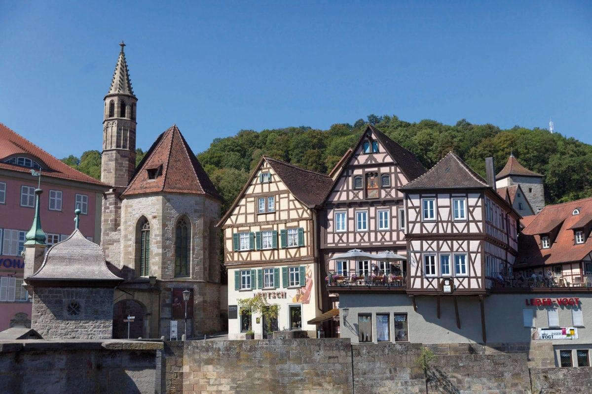 Johanniterkirche und Fachwerk Schwäbisch Hall