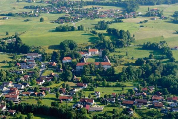 Kloster Wessobrunn (Luftbild)