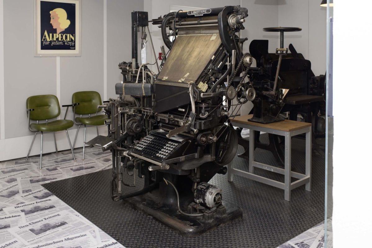 Druckmaschine (Mittelschwäbisches Heimatmuseum Krumbach)