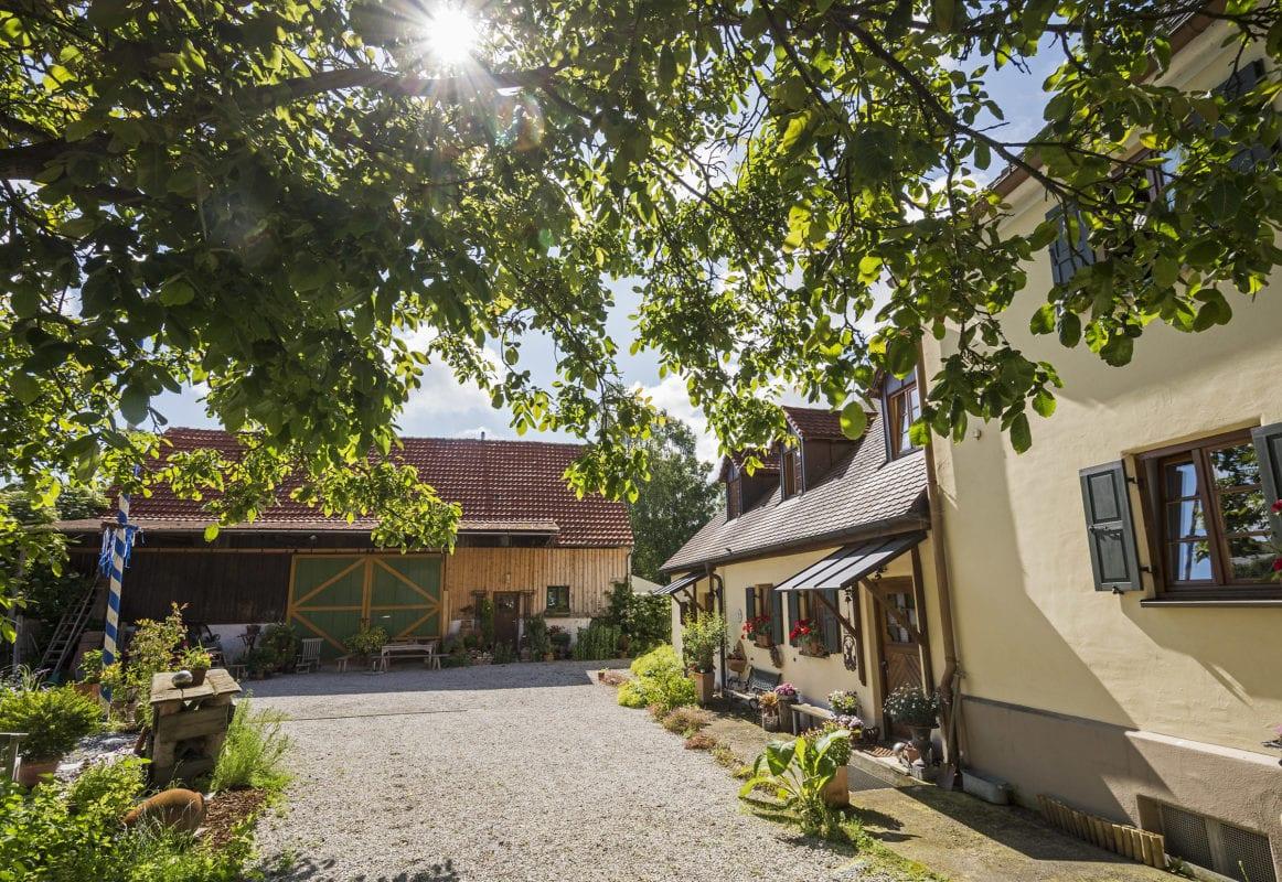 Projekt Alte Mühle Holzheim Aussenansicht Innenhof