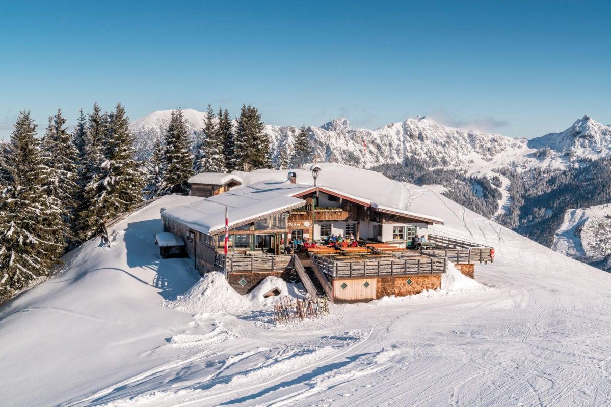 Tannheimer Tal Gundhütte im Winter