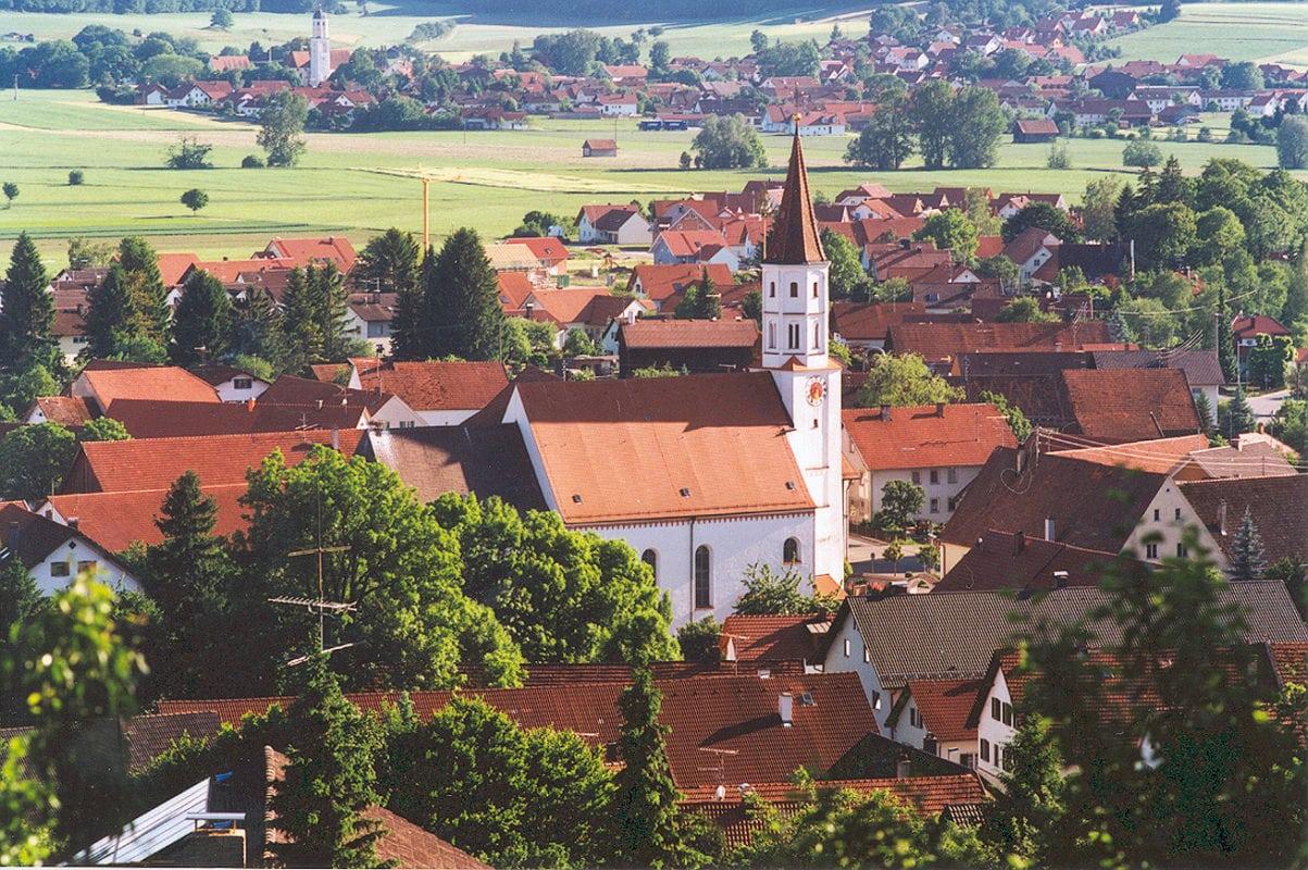 Tussenhausen Ansicht vom Angelberg