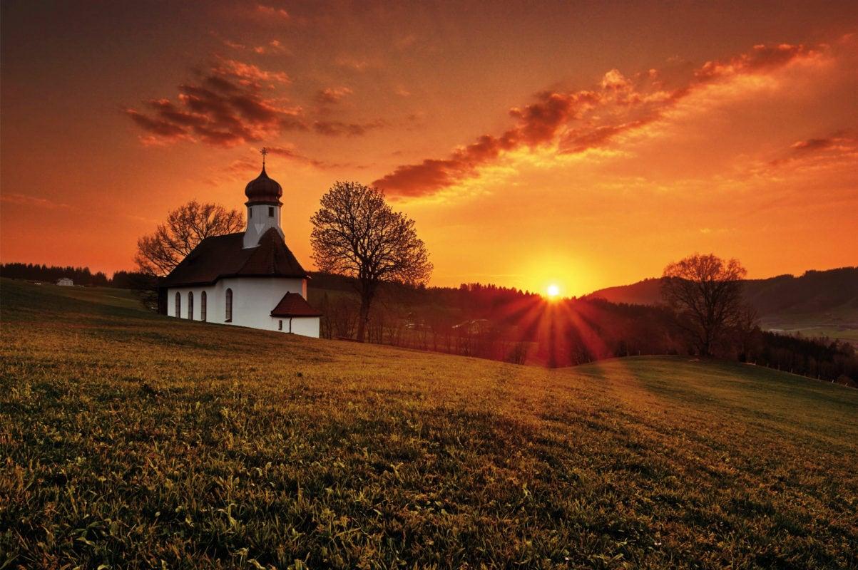 Weitnau Waltrams Sonnenuntergang