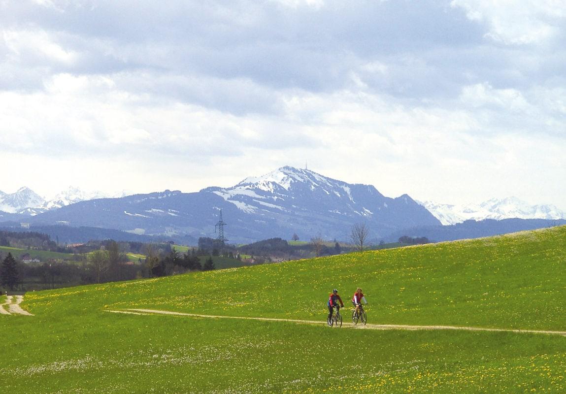 Wildpoldsried Fahrradtour im Frühling